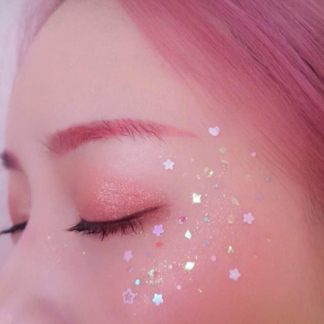 Set glitter hình Unicorn 20 màu kèm keo