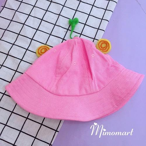 Mũ bucket hồng mầm cây