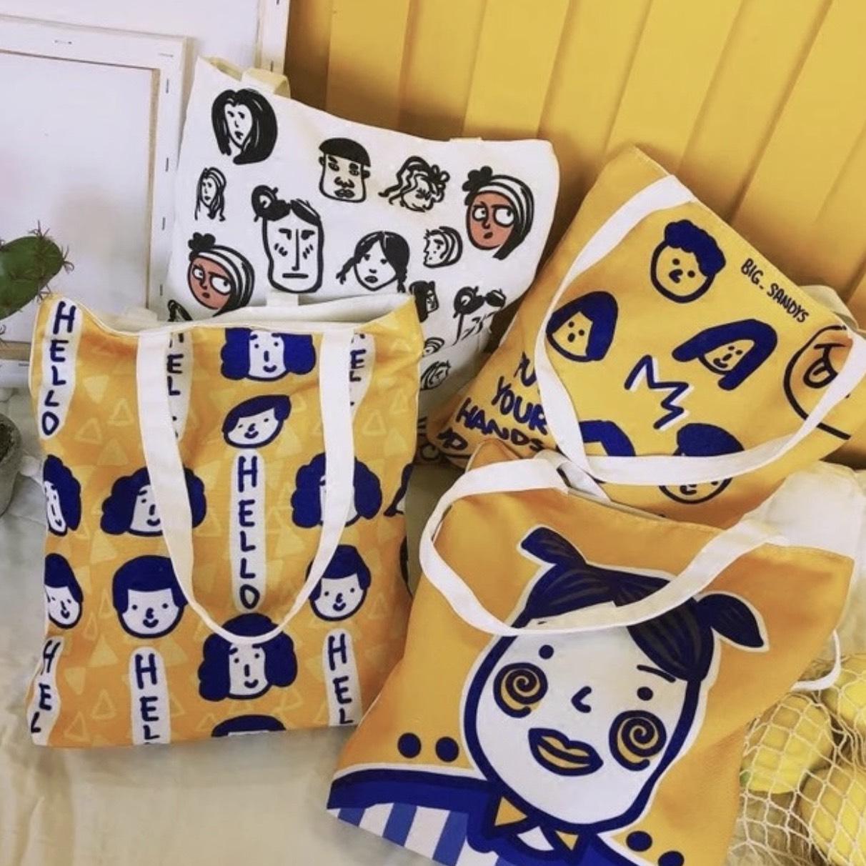 Túi tote hình cô gái Nhật