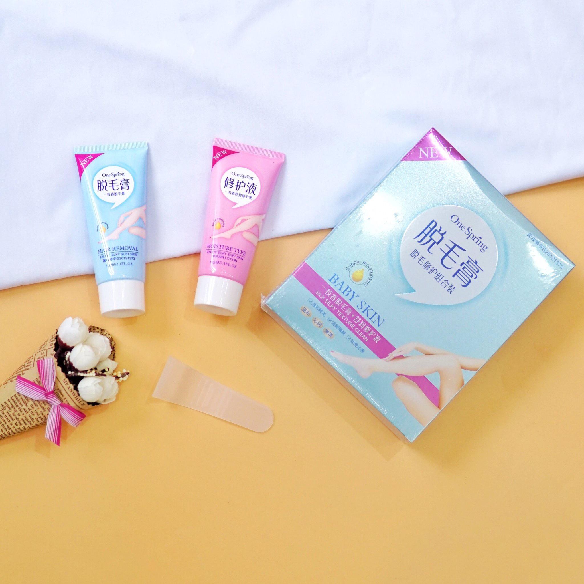 Set kem tẩy lông và kem dưỡng Baby Skin