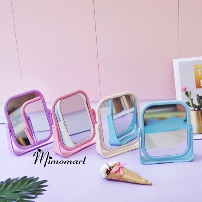 Gương vuông để bàn 2 mặt
