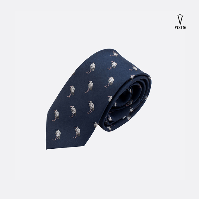 Cravat xanh than in con cò