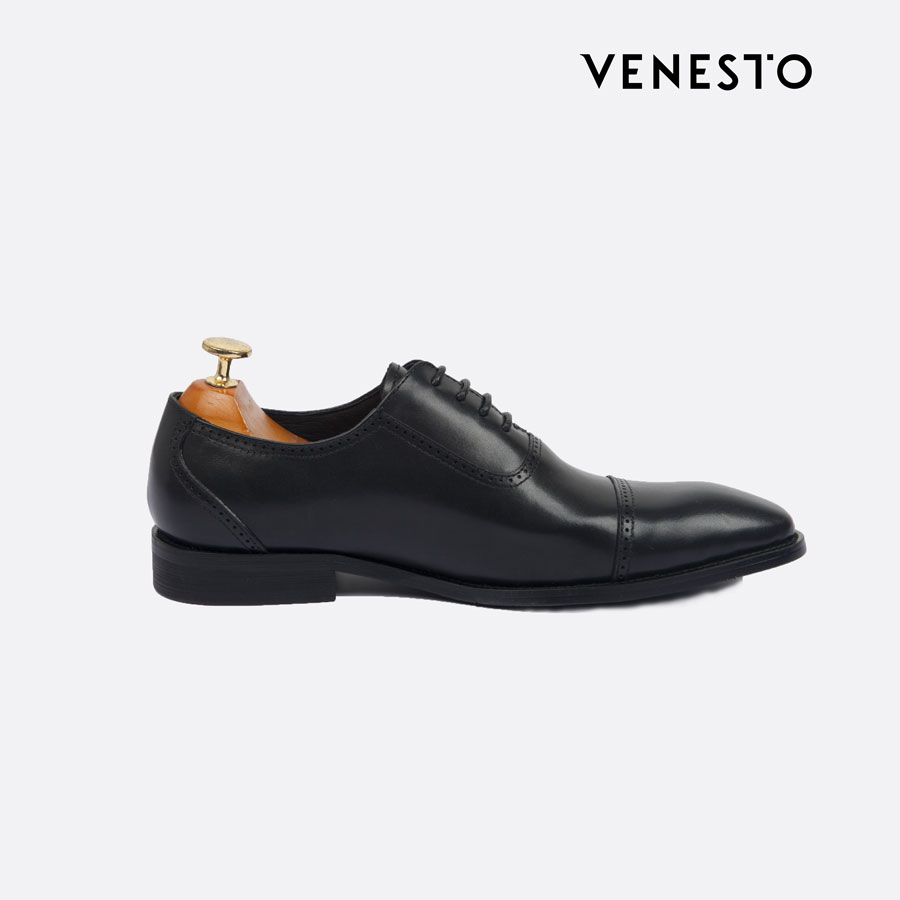 Giầy oxford đen square toe