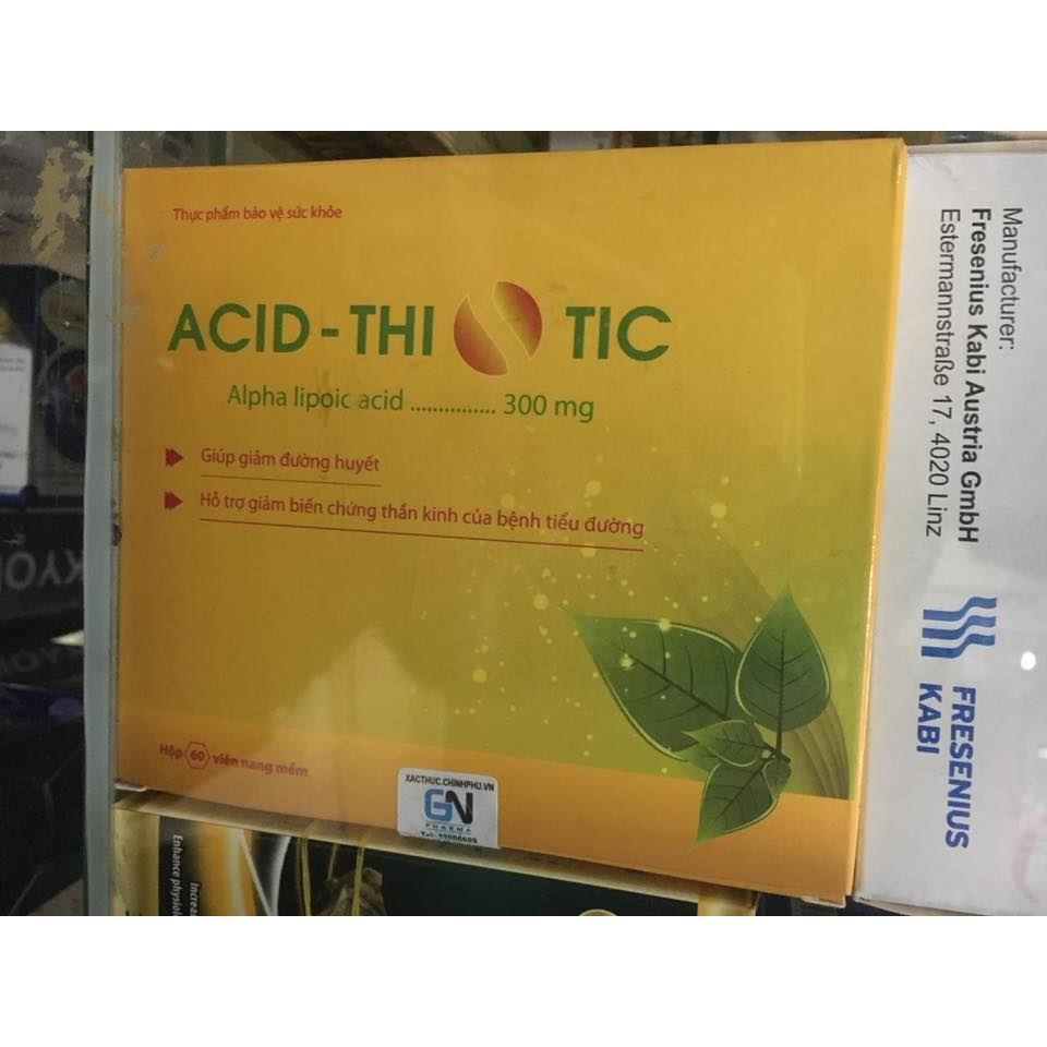 Acid Thiotic tiểu đường