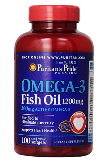 Dầu cá Puritan's Pride Omega-3 Fish Oil 1200 mg