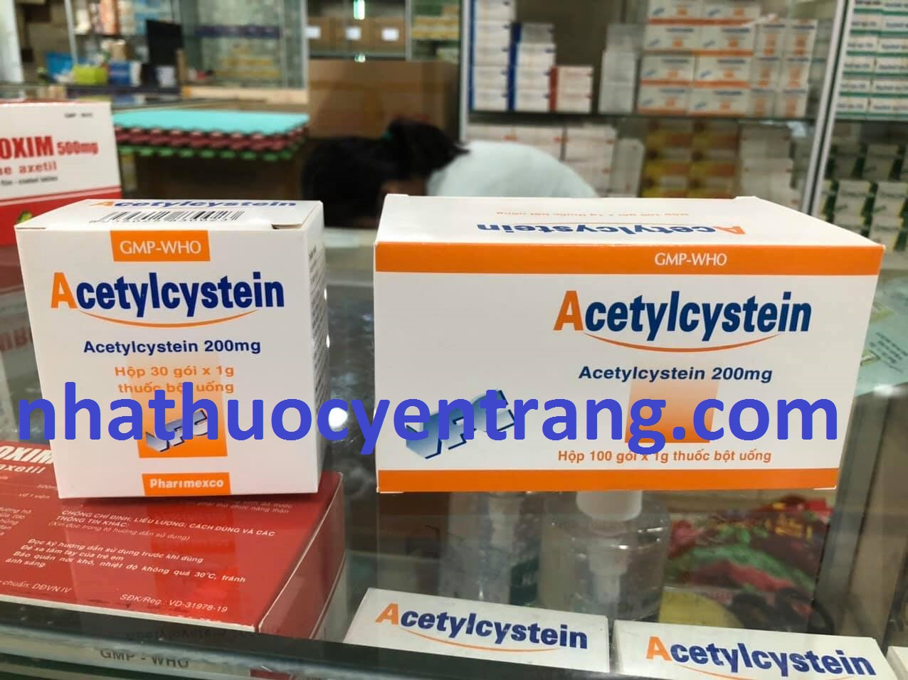 Acetylcystein Cửu Long 100 gói