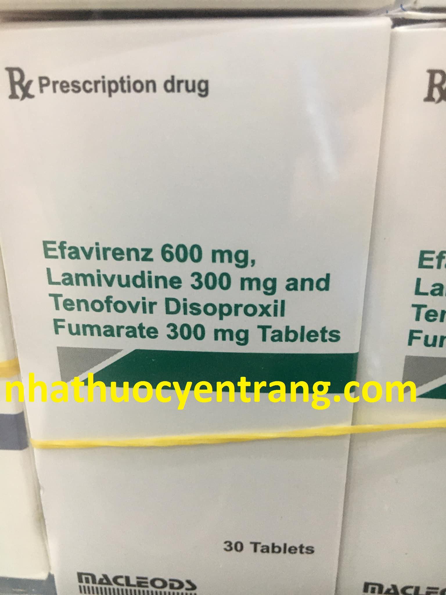 Efavirenz 600mg, Lamivudine 300mg and Tenofovir 300mg
