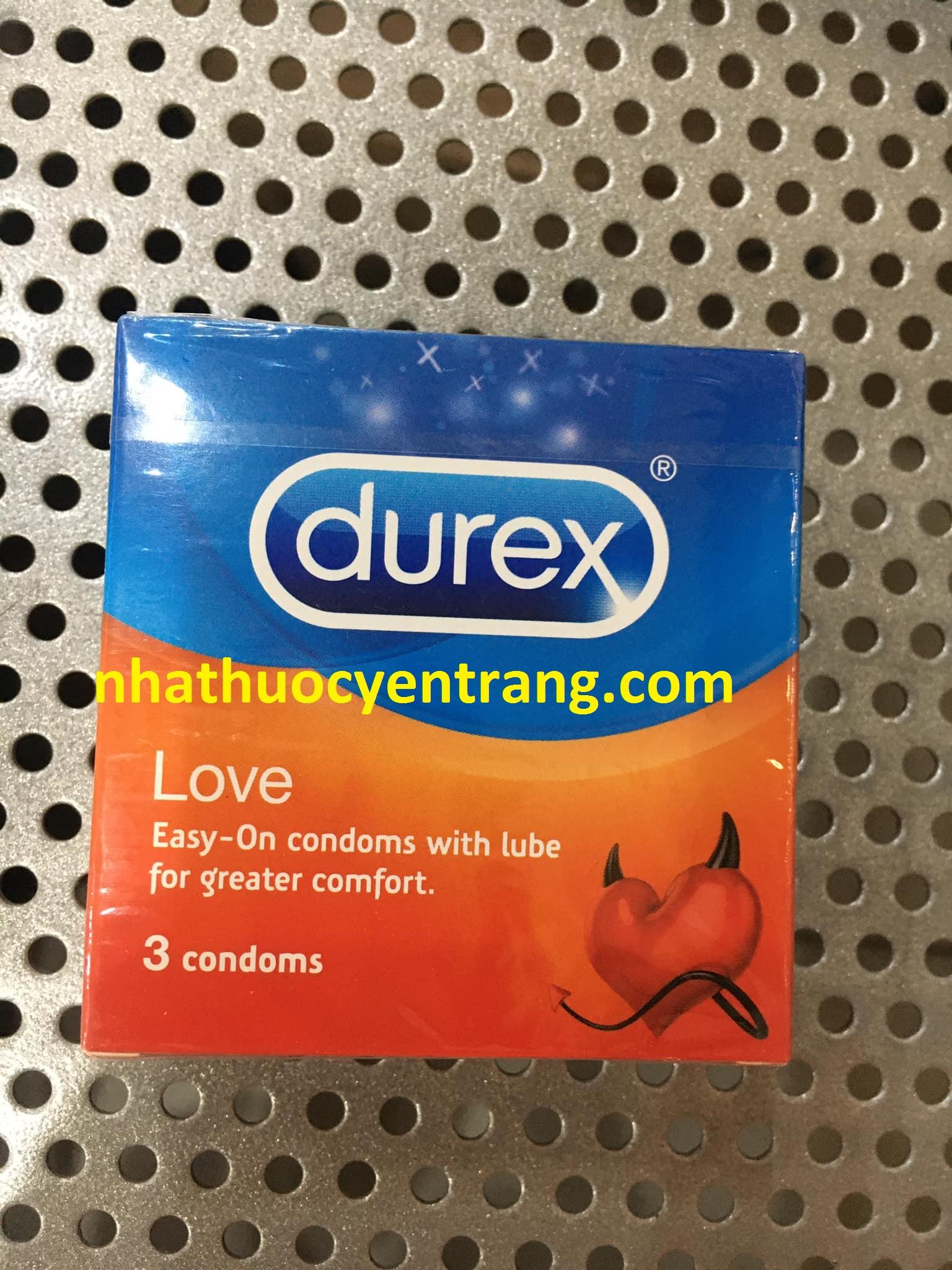 BCS Durex Love (hộp 3 cái)