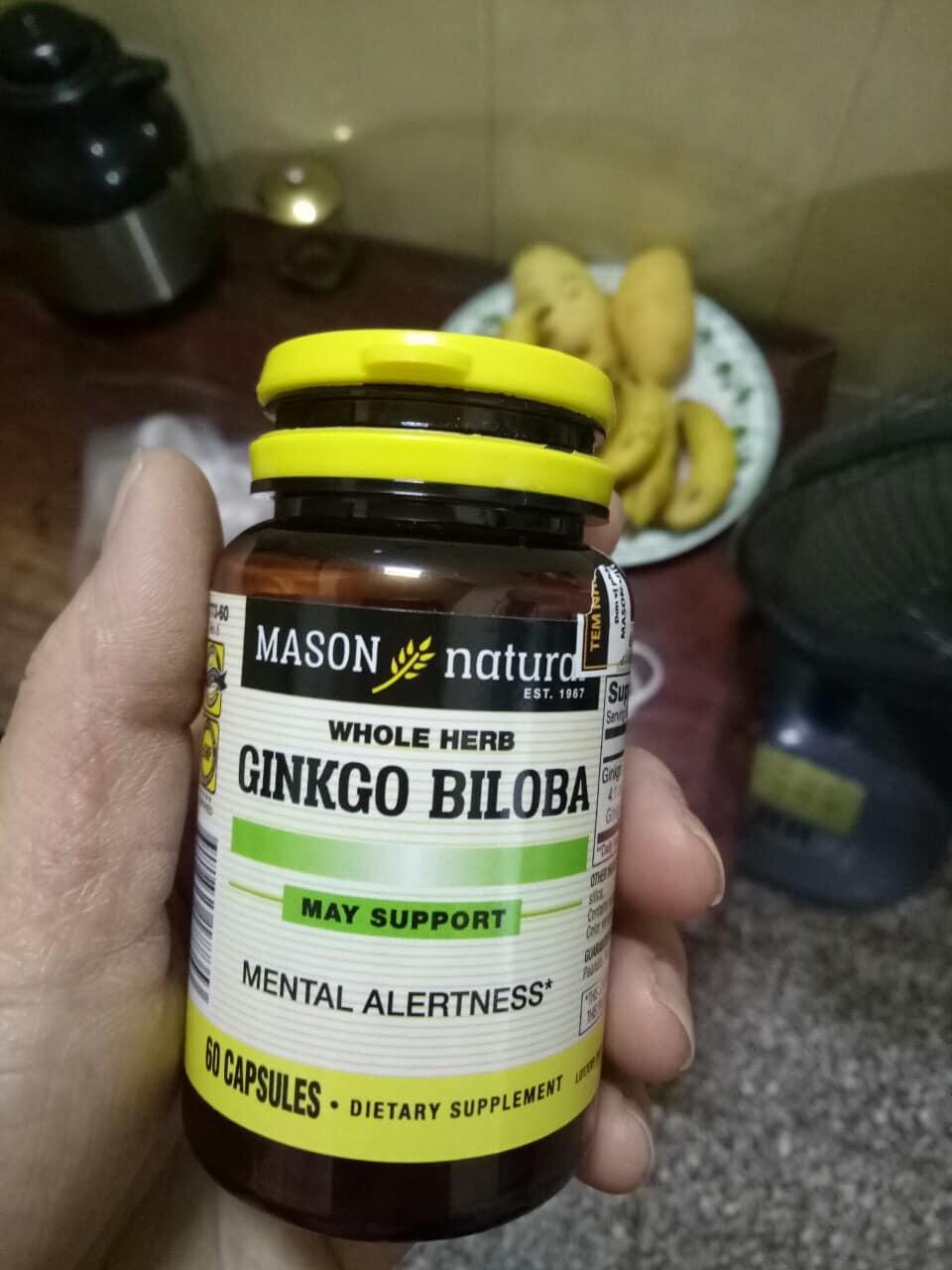 Ginkgo Biloba Mason Natural 60 viên