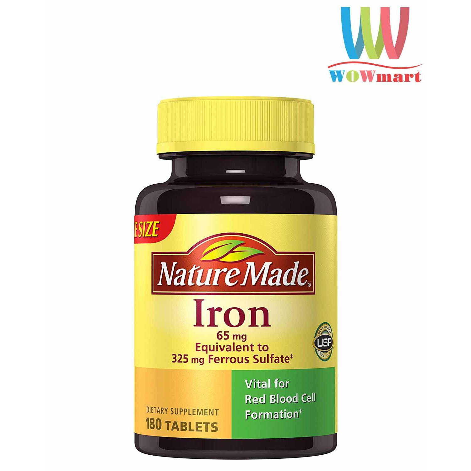 Nature Made Iron 65mg 180 viên