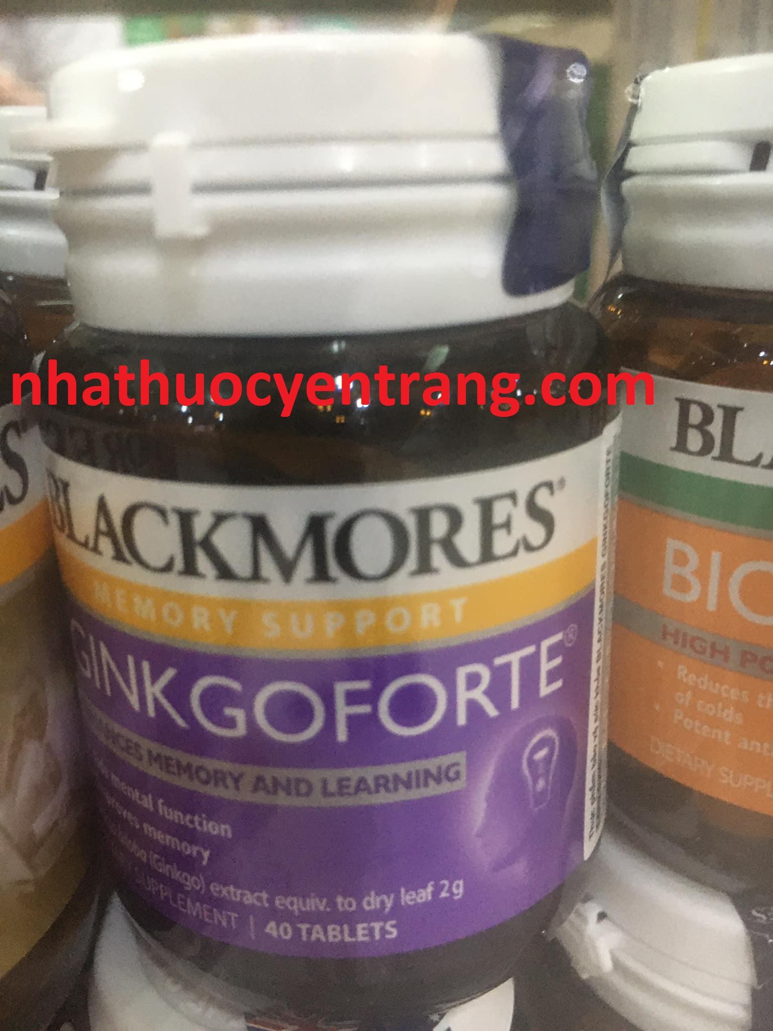 Blackmores Ginkgoforte (Hộp 40 viên)