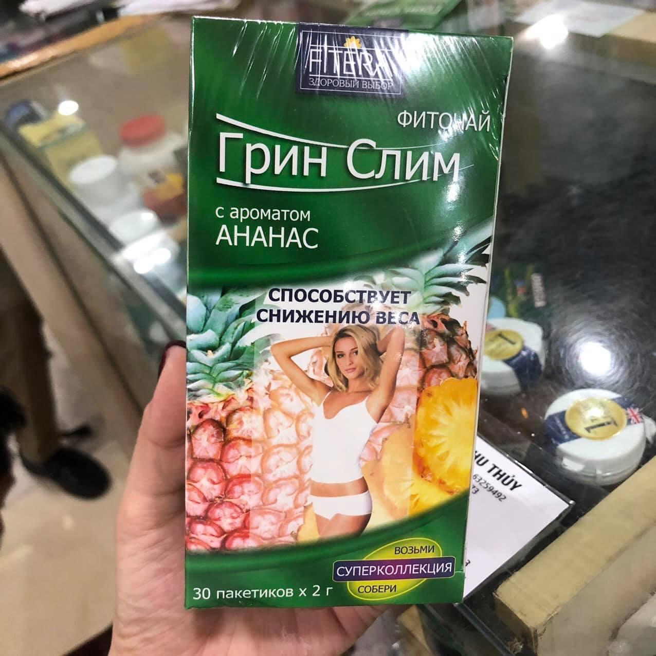 Trà giảm cân Fitera Super Slim Nga vị dâu (Hộp 30 gói)