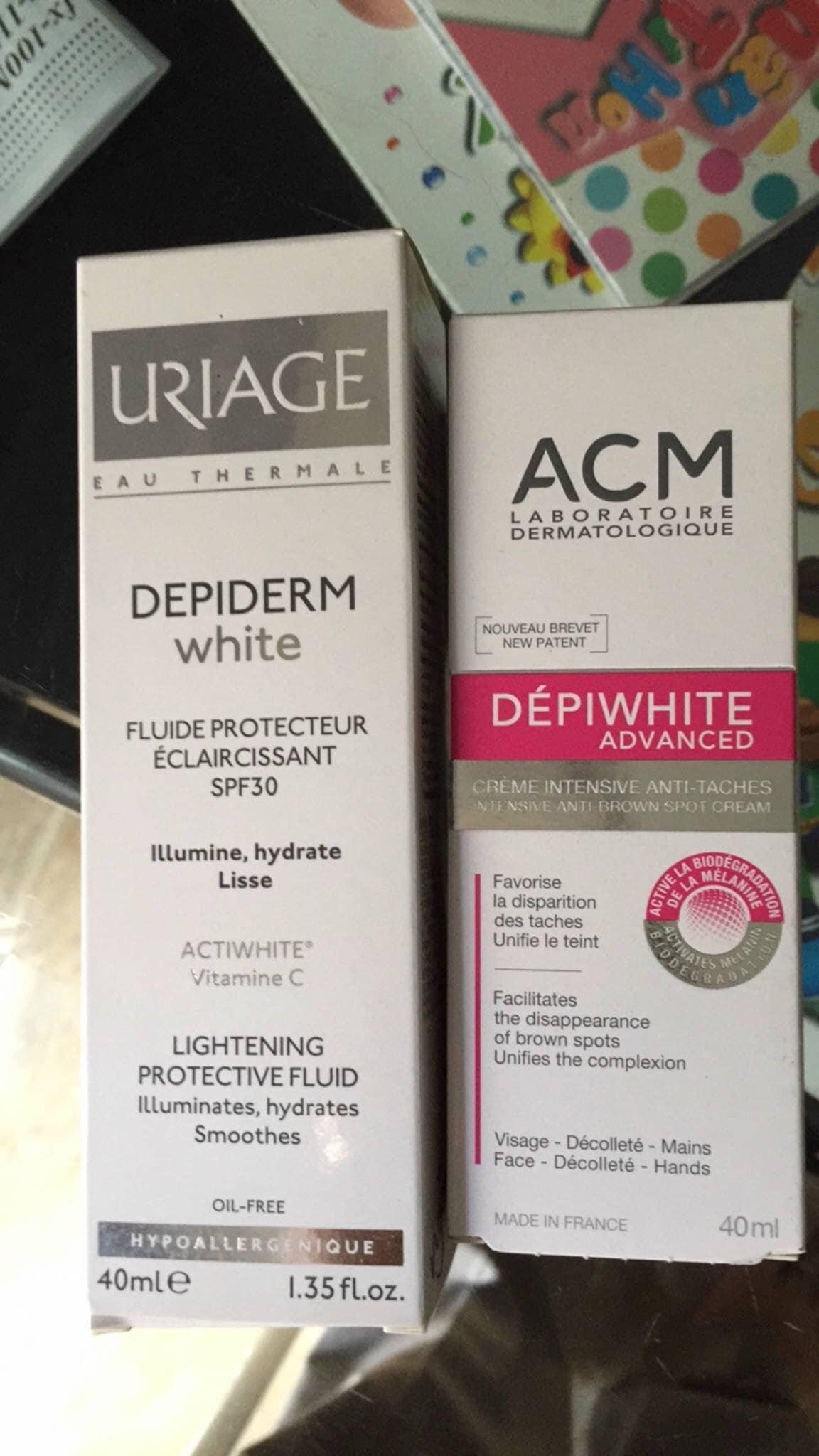 Sữa Dưỡng Sáng Da Uriage Depiderm White Lightening Protective Fluide Spf30 40Ml
