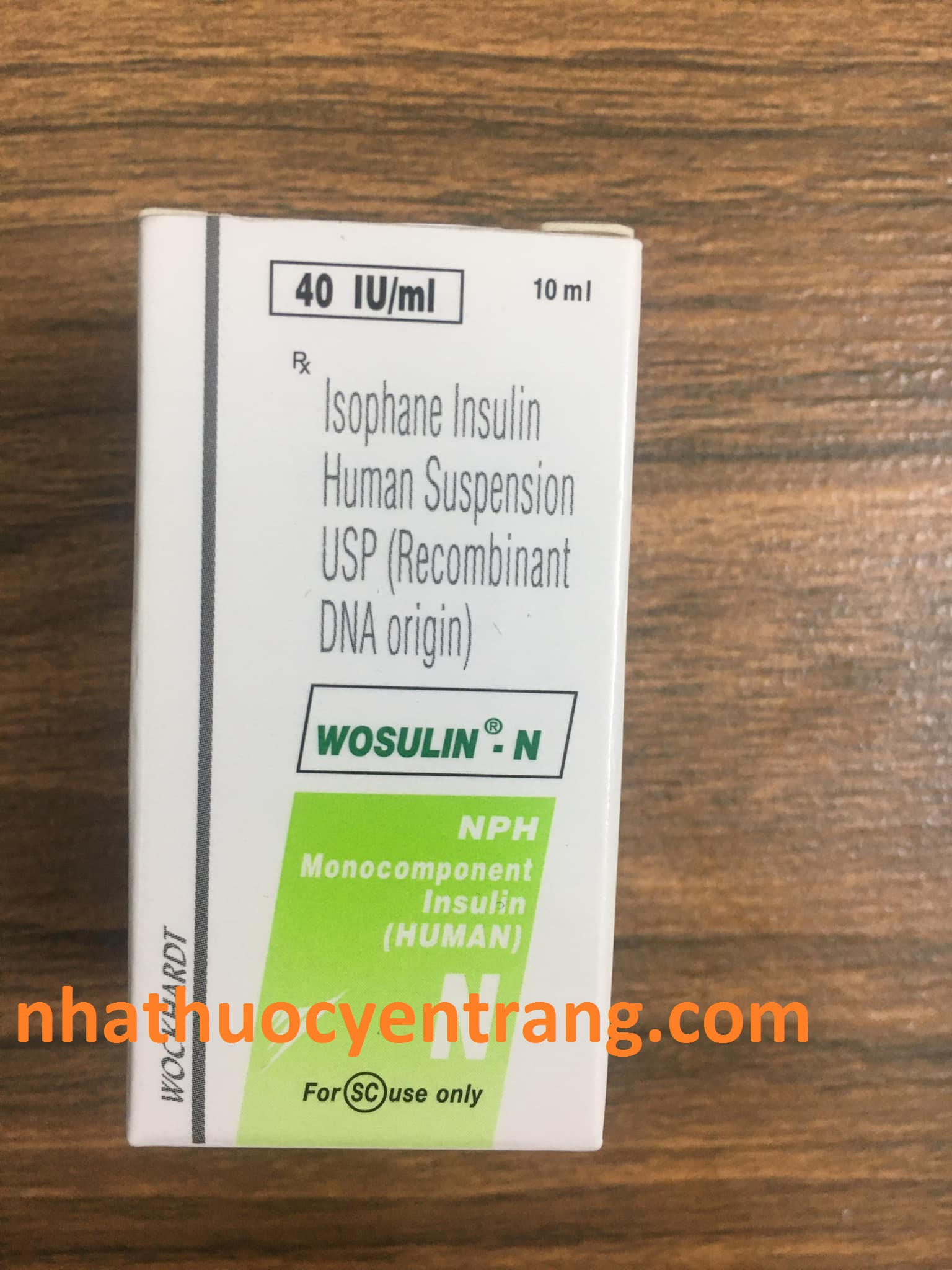 Wosulin N 40 IU/ml