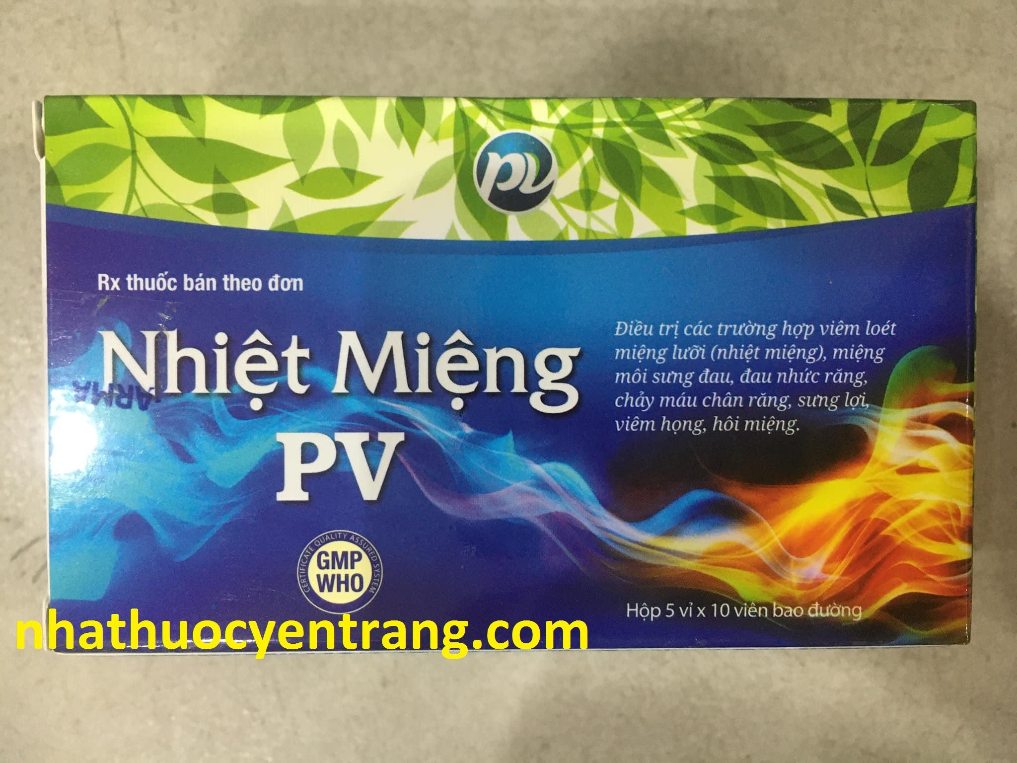 Nhiệt miệng PV (vỉ)