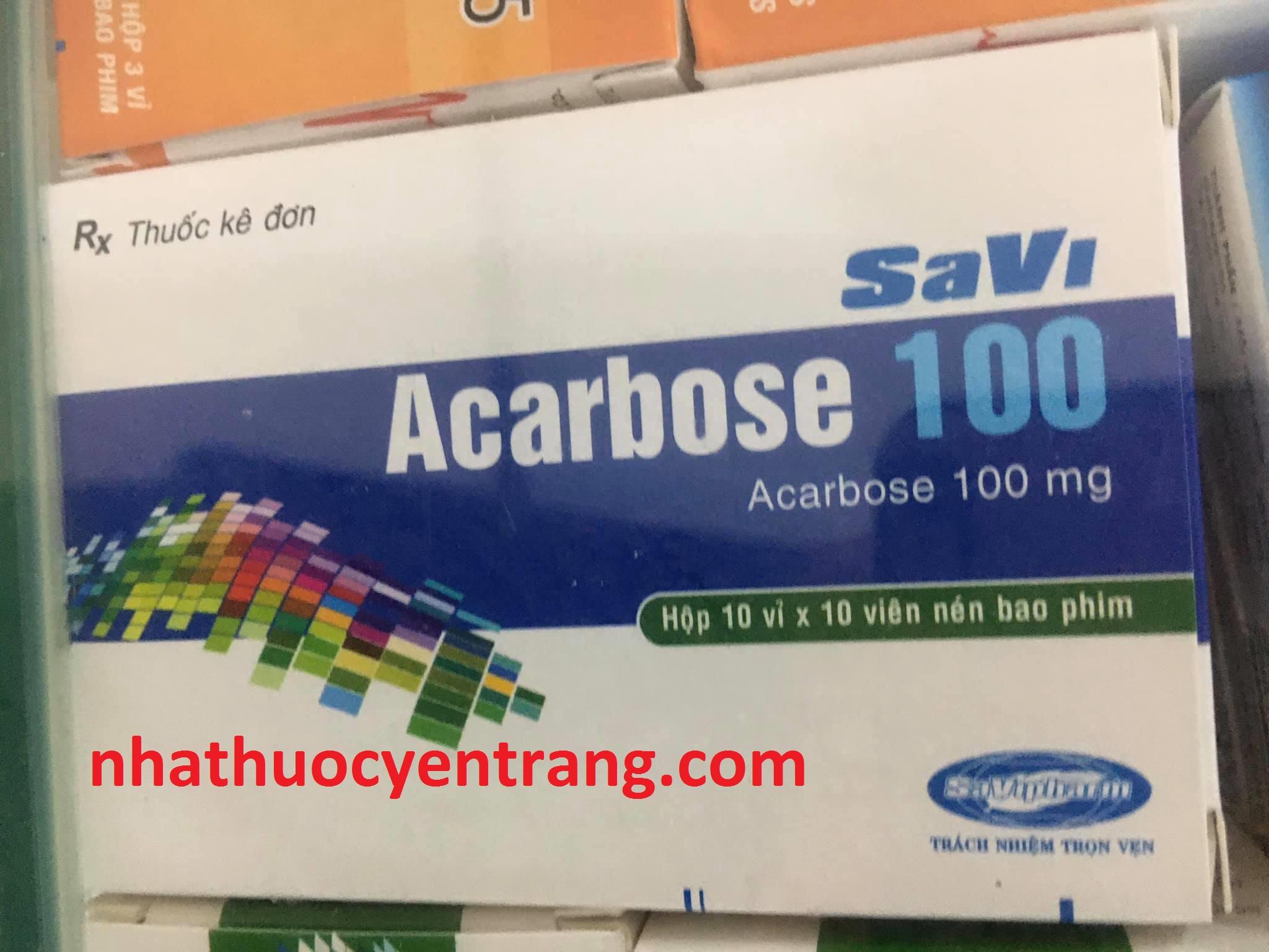 Acarbose 100mg Savi