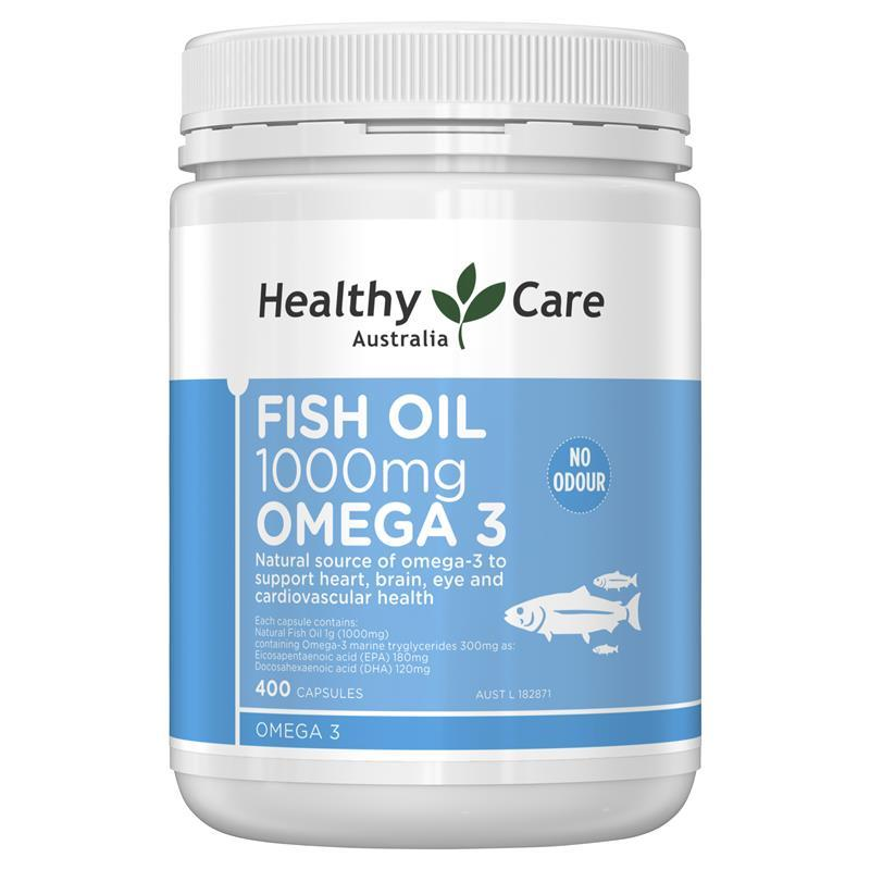 Fish Oil Healthy Care Omega-3 1000mg 400 viên