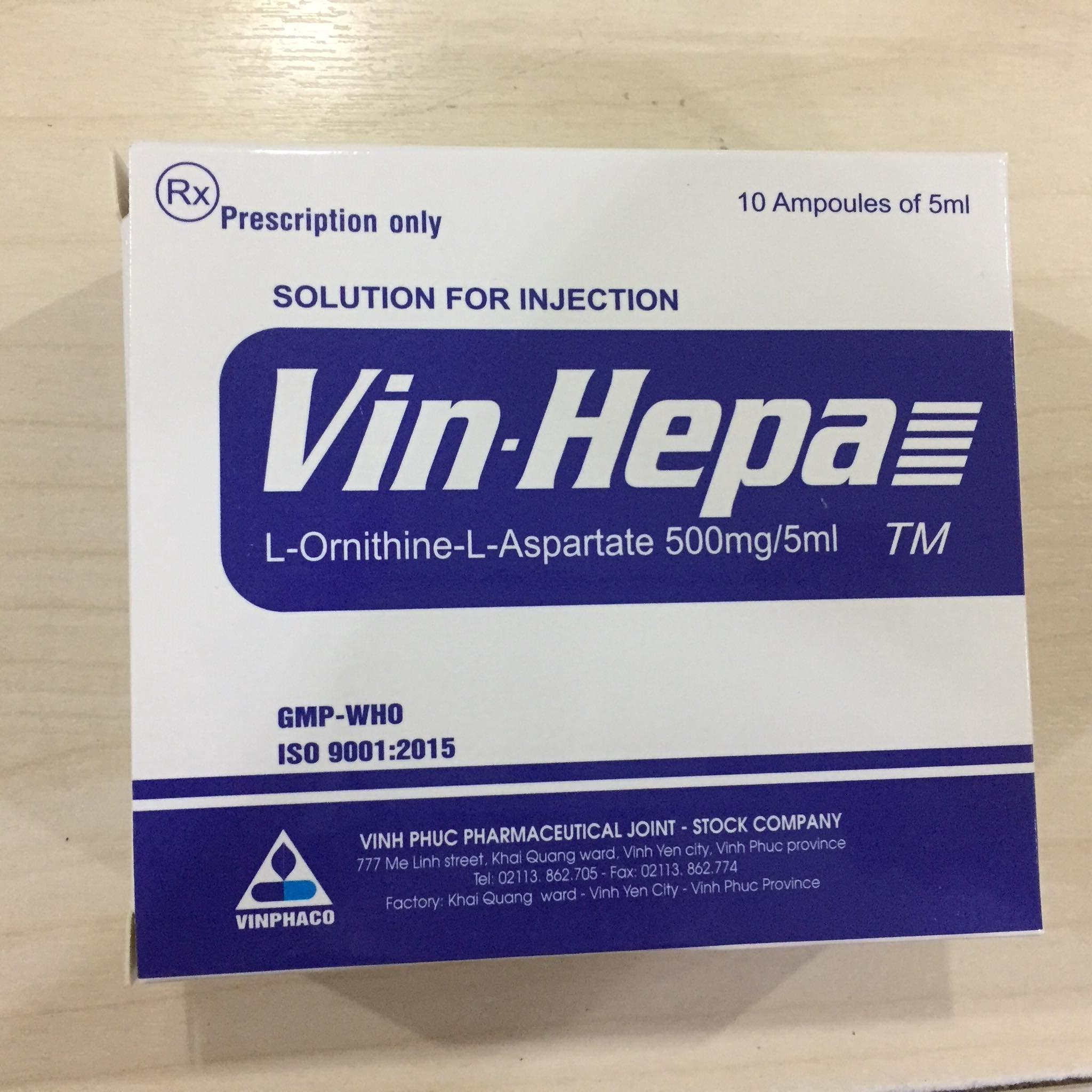Vin-hepa 500mg/5ml