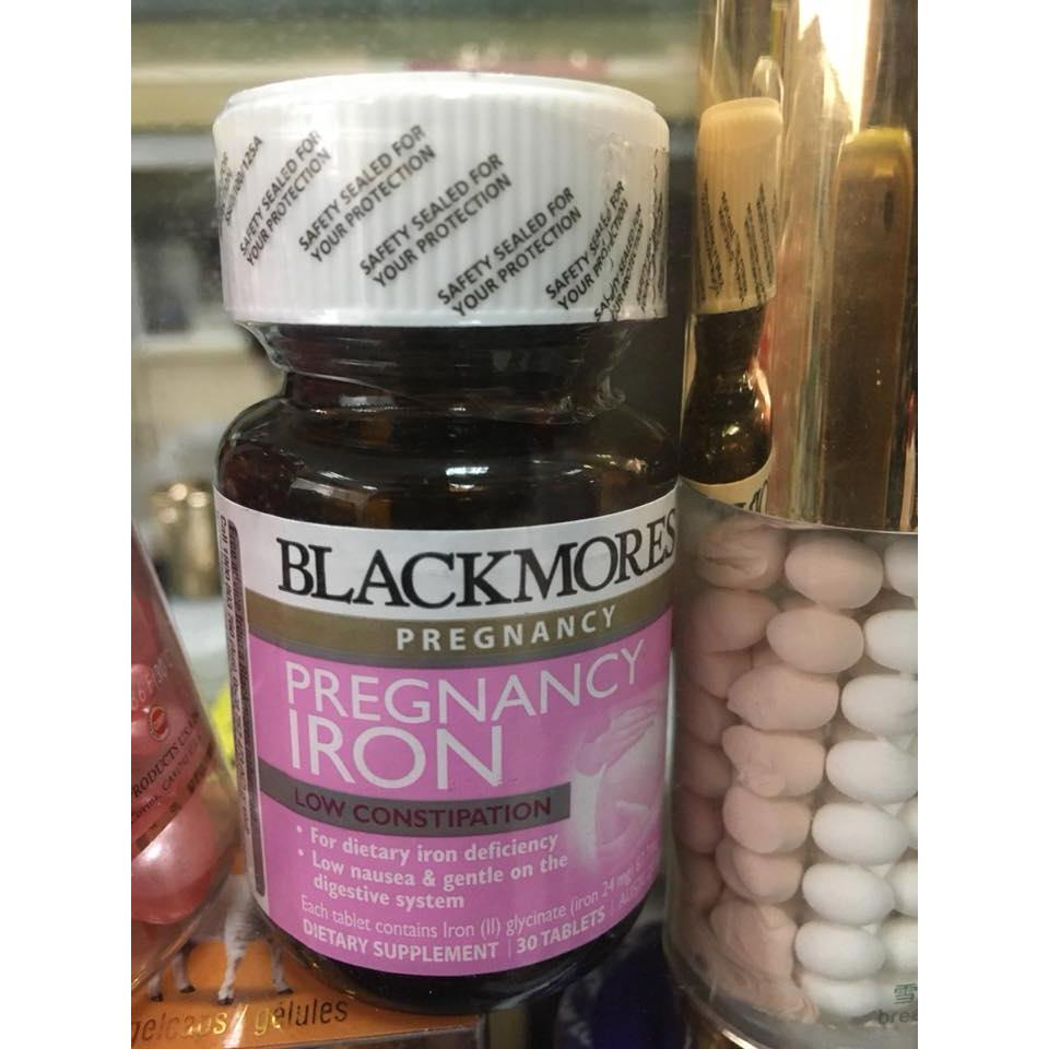 Blackmores Pregnancy Iron 30 viên