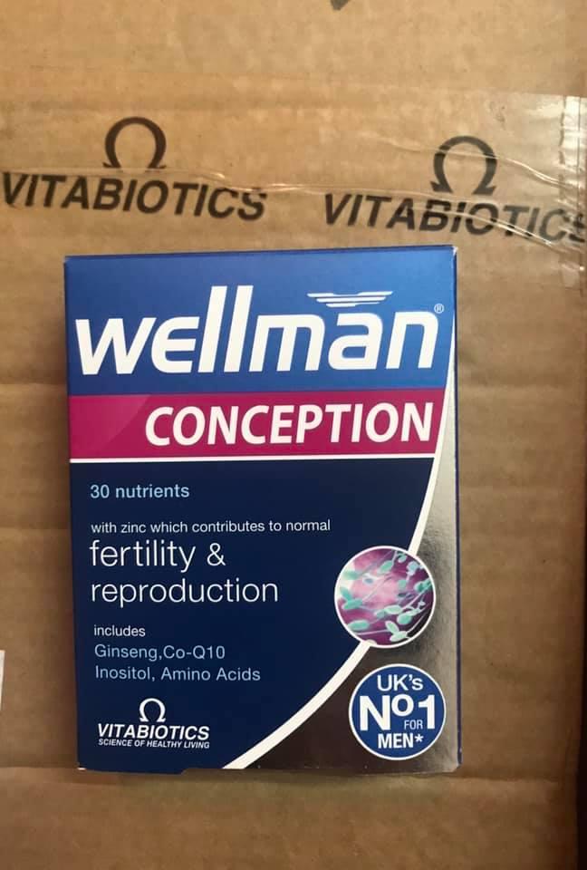 Hỗ trợ sinh sản cho nam giới Wellman Conception 30 viên