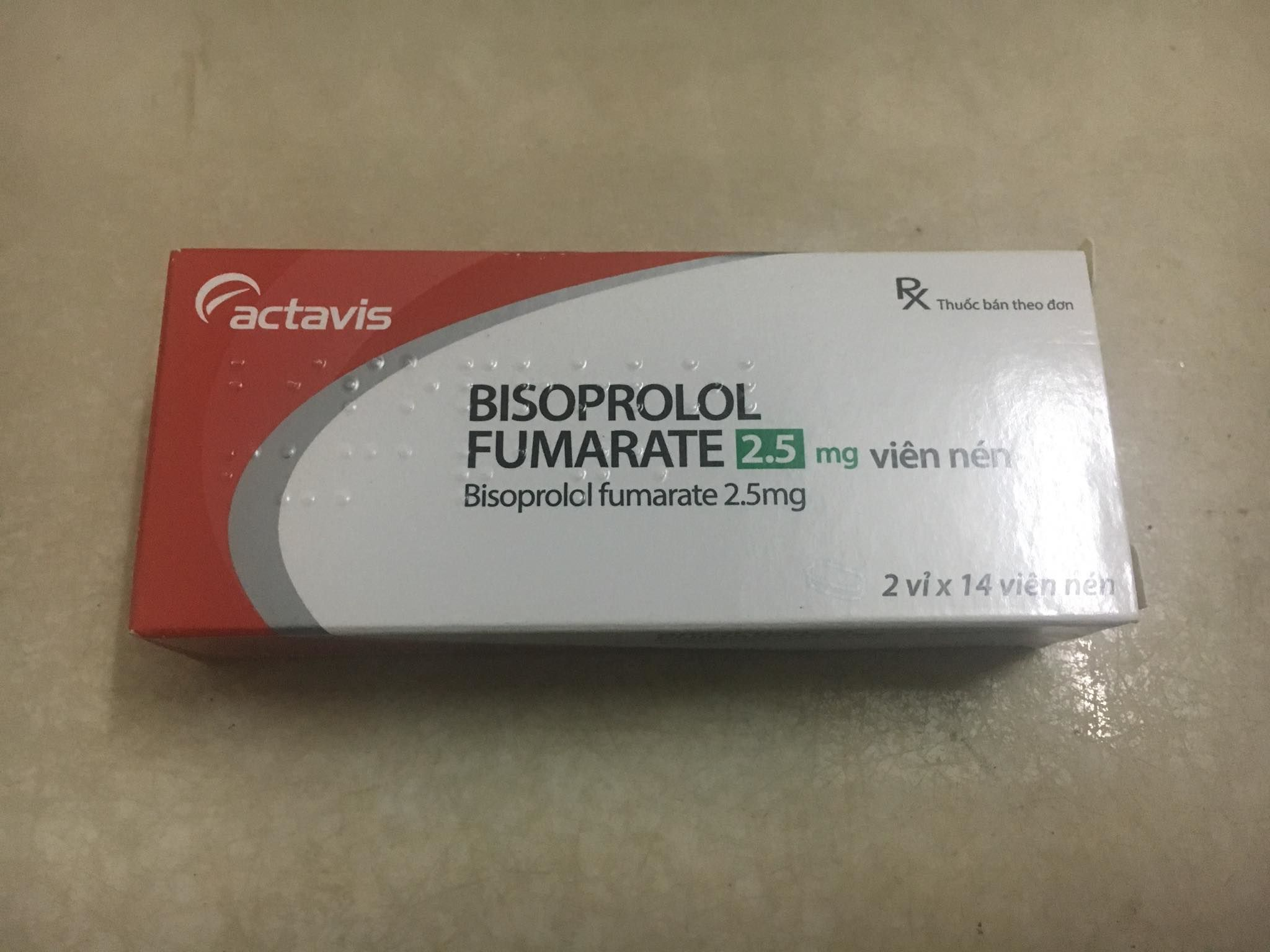 Bisoprolol Fumarate 2.5 mg