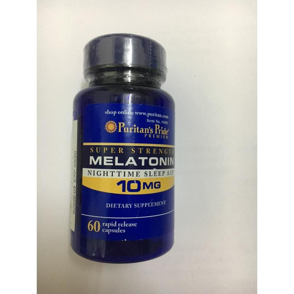 Melatonin 10mg Puritans Pride 60 viên
