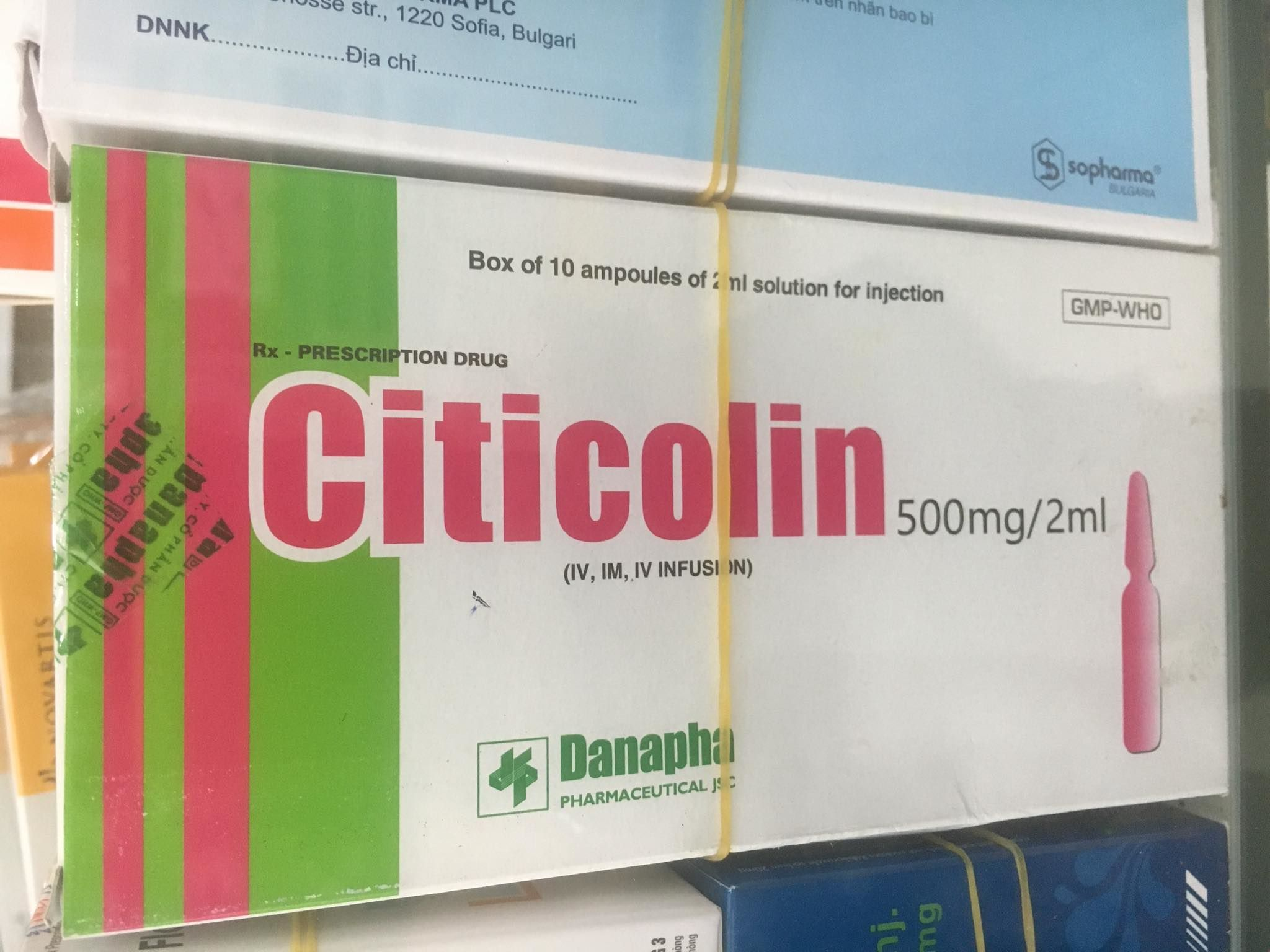 Citicolin 500mg/2ml Danapha