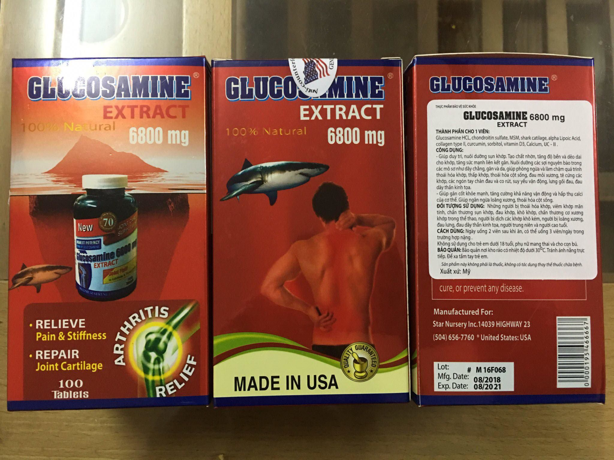 Glucosamine extract 6800mg