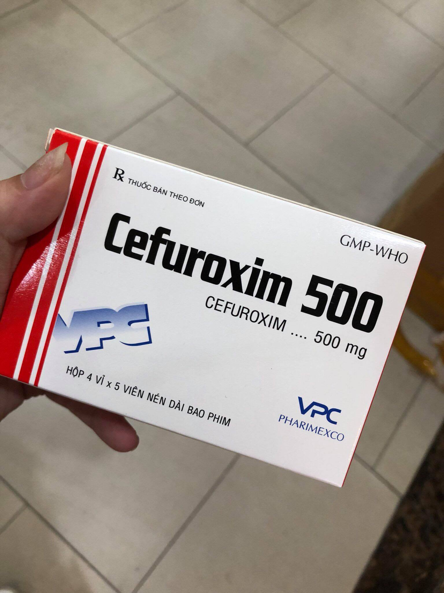 Cefuroxim 500mg Cửu Long