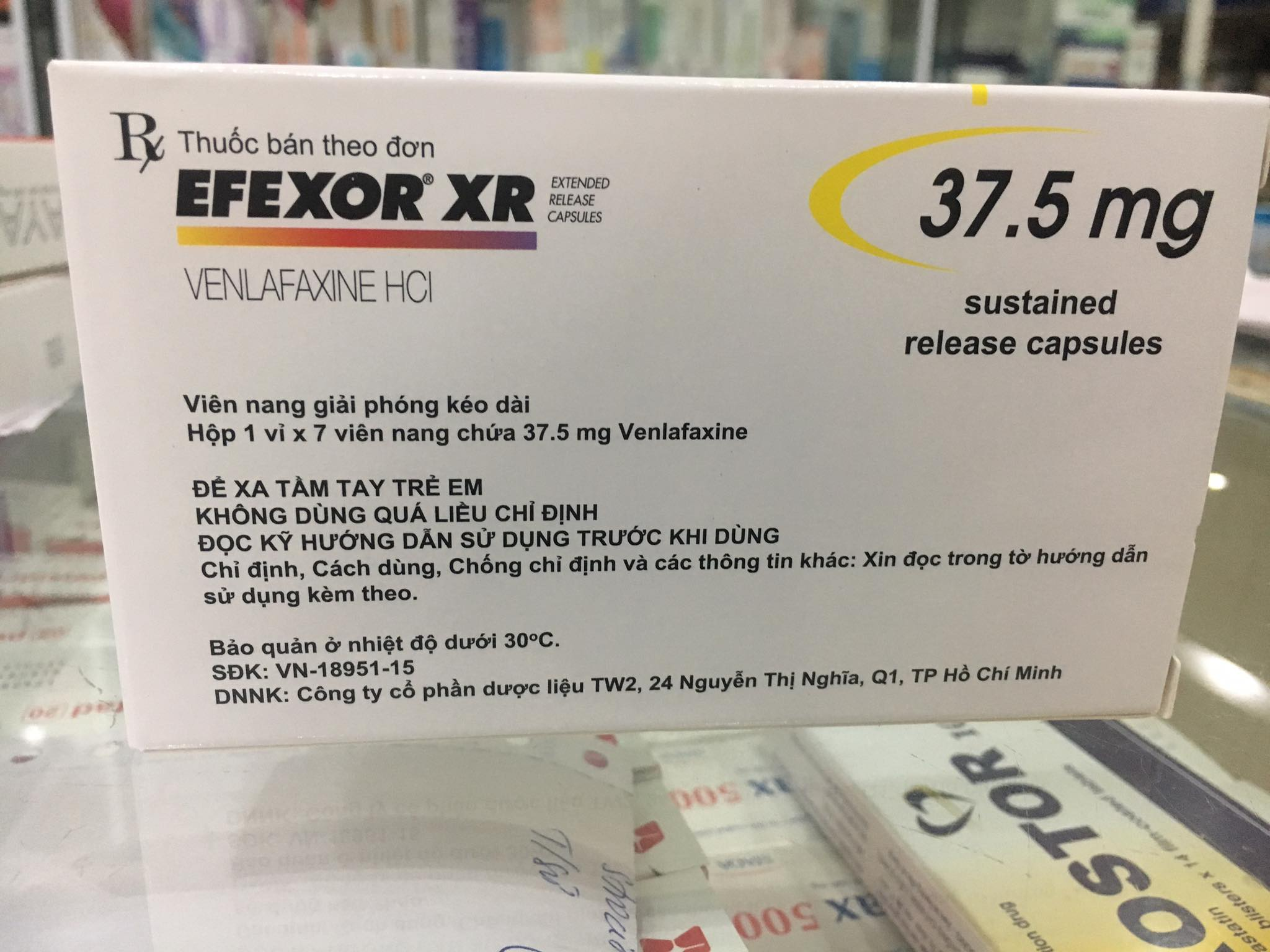 Efexor XR 37.5mg