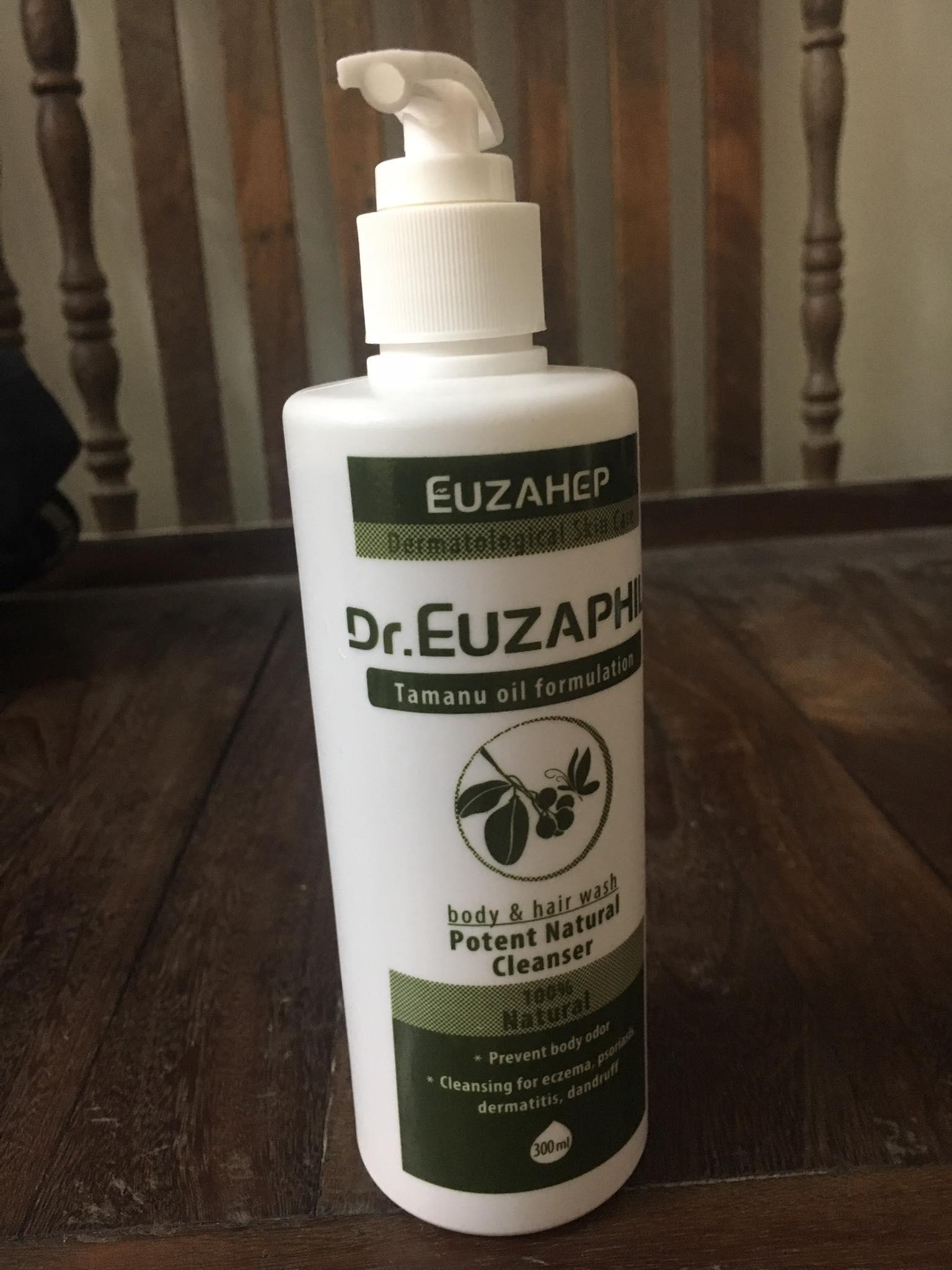 Sữa tắm gội dầu Mù U - Dr. EUZAPHIL Potent Natural Cleanser 300ml