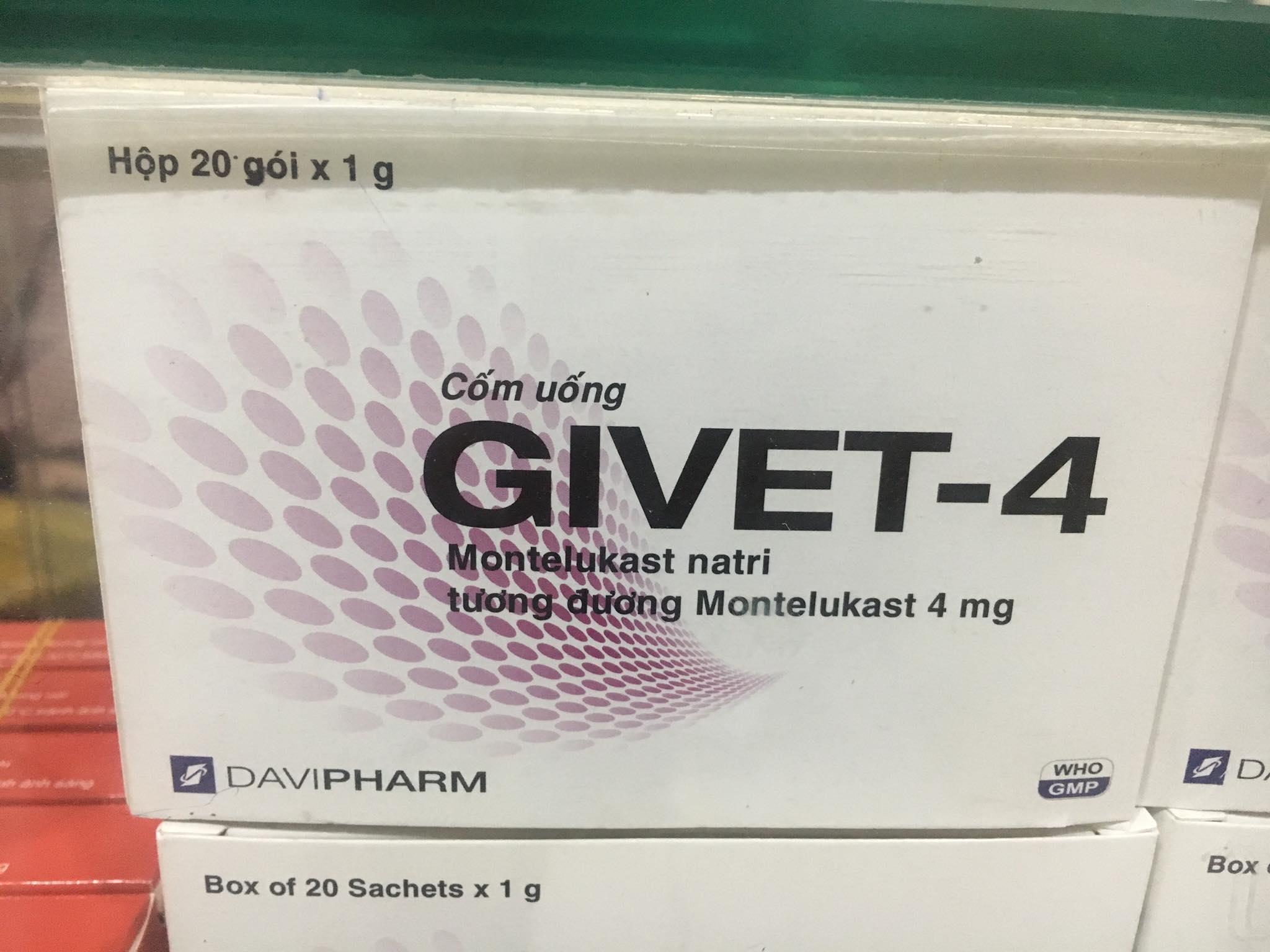 Givet 4mg