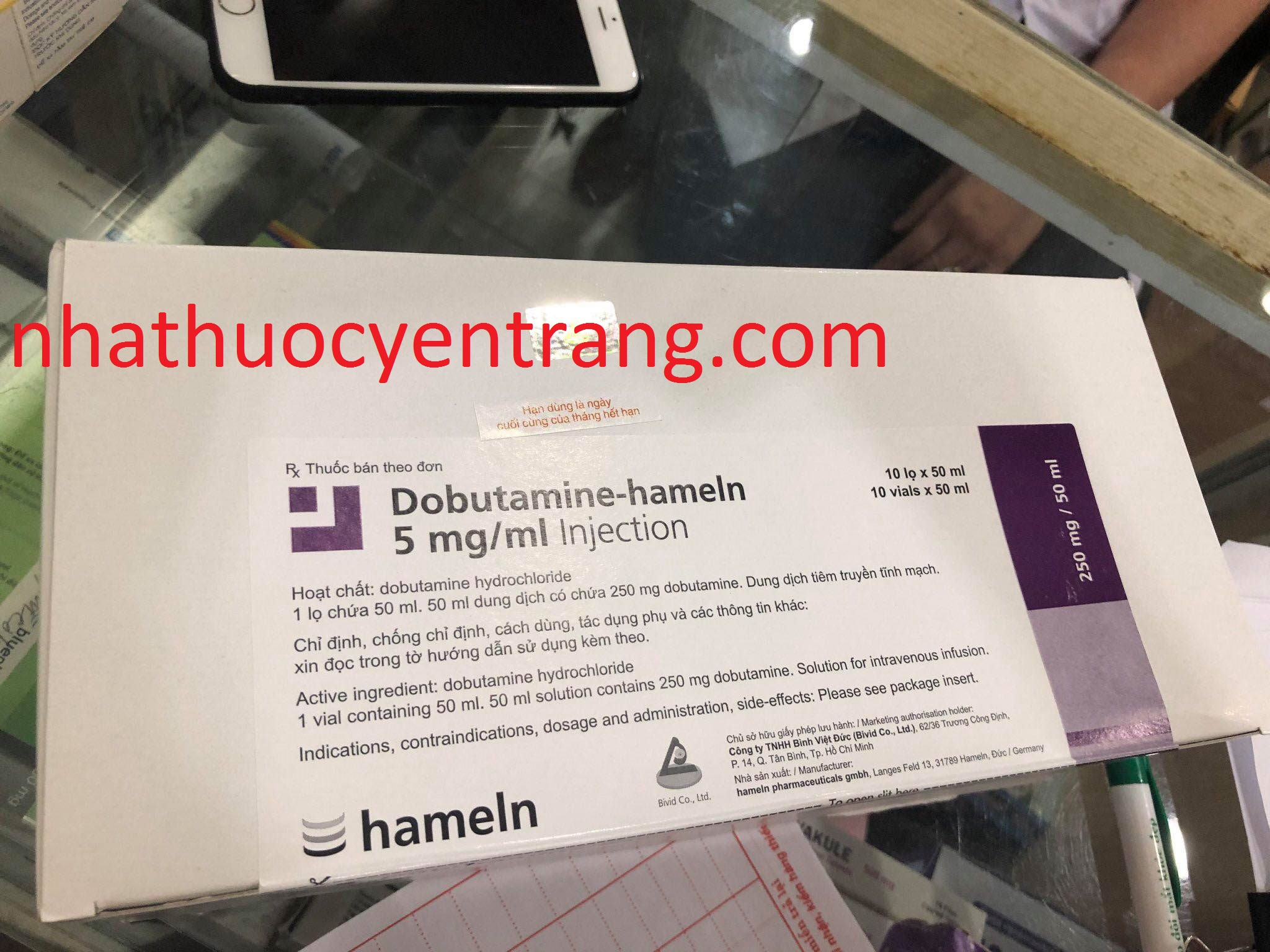 Dobutamine 5mg/ml - Lọ 50ml