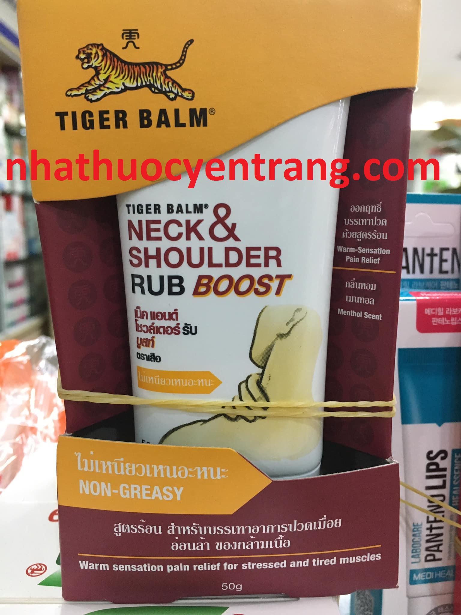 Dầu xoa bóp Thái Tiger Balm Neck Shoulder Rub Boost 50g