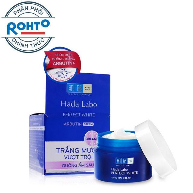 Kem dưỡng trắng Hada Labo Perfect White Arbutin Cream 50g