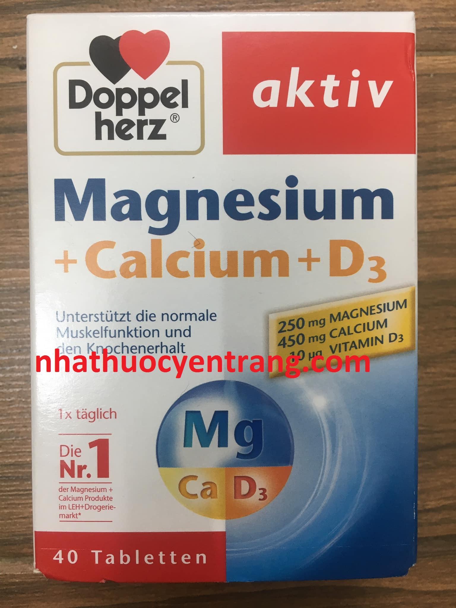 Magnesium + Calcium + D3 Doppel Herz