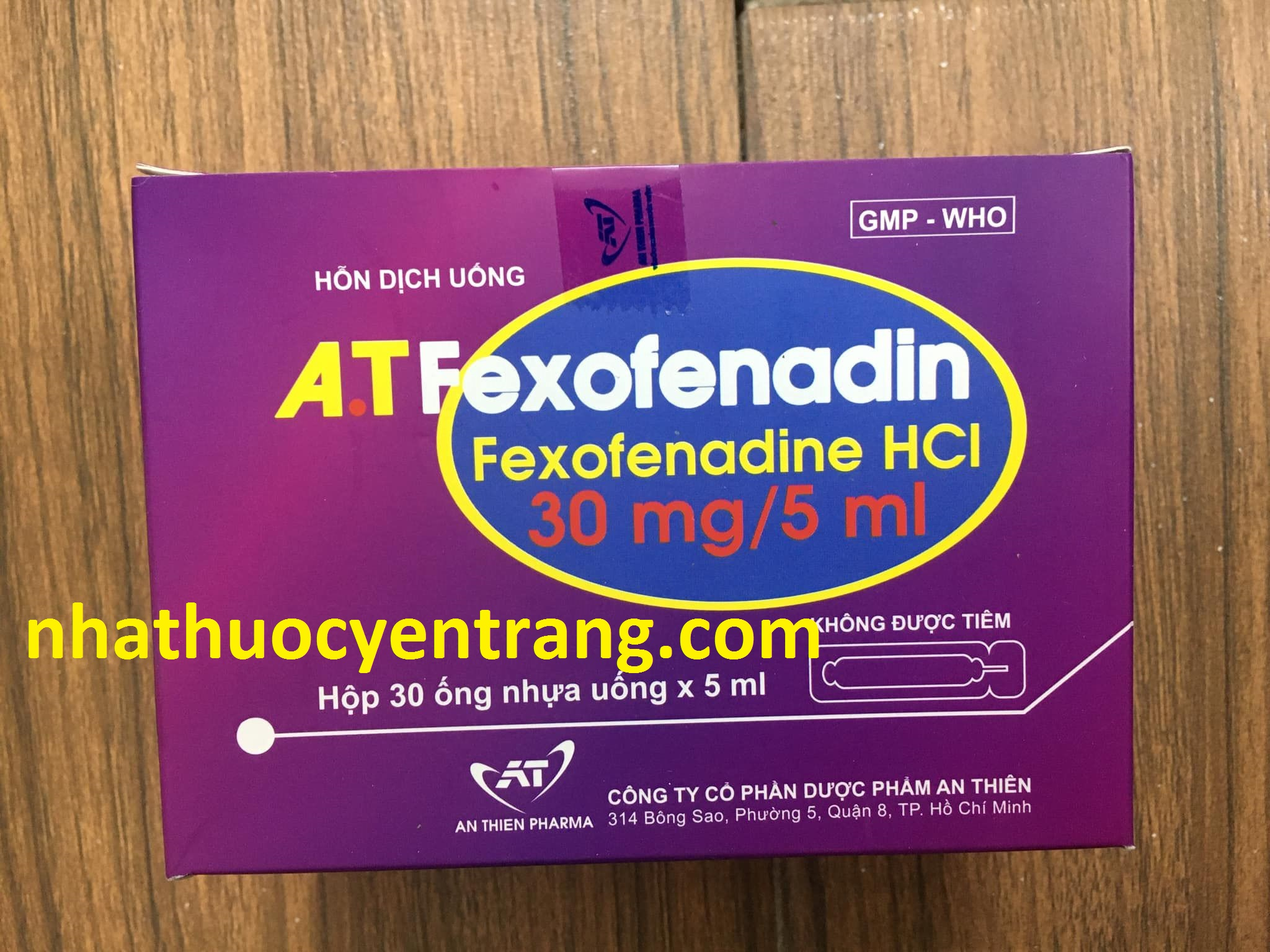 AT Fexofenadin 30mg/5ml