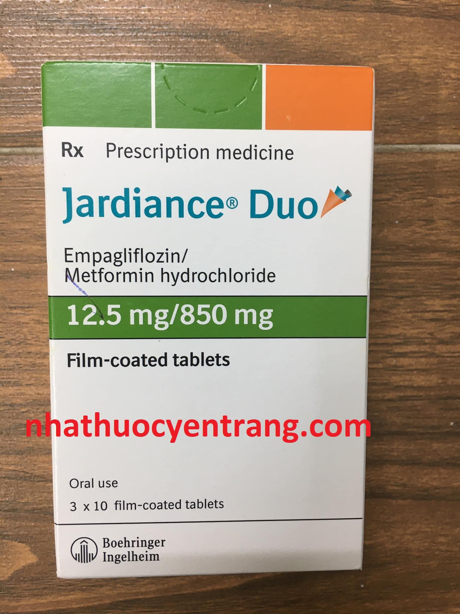 Jardiance Duo 12.5/850 mg