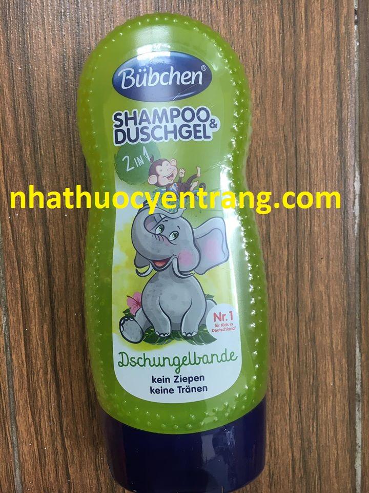 Sữa tắm gội hương hoa quả rừng nhiệt đới Bubchen (230ml)