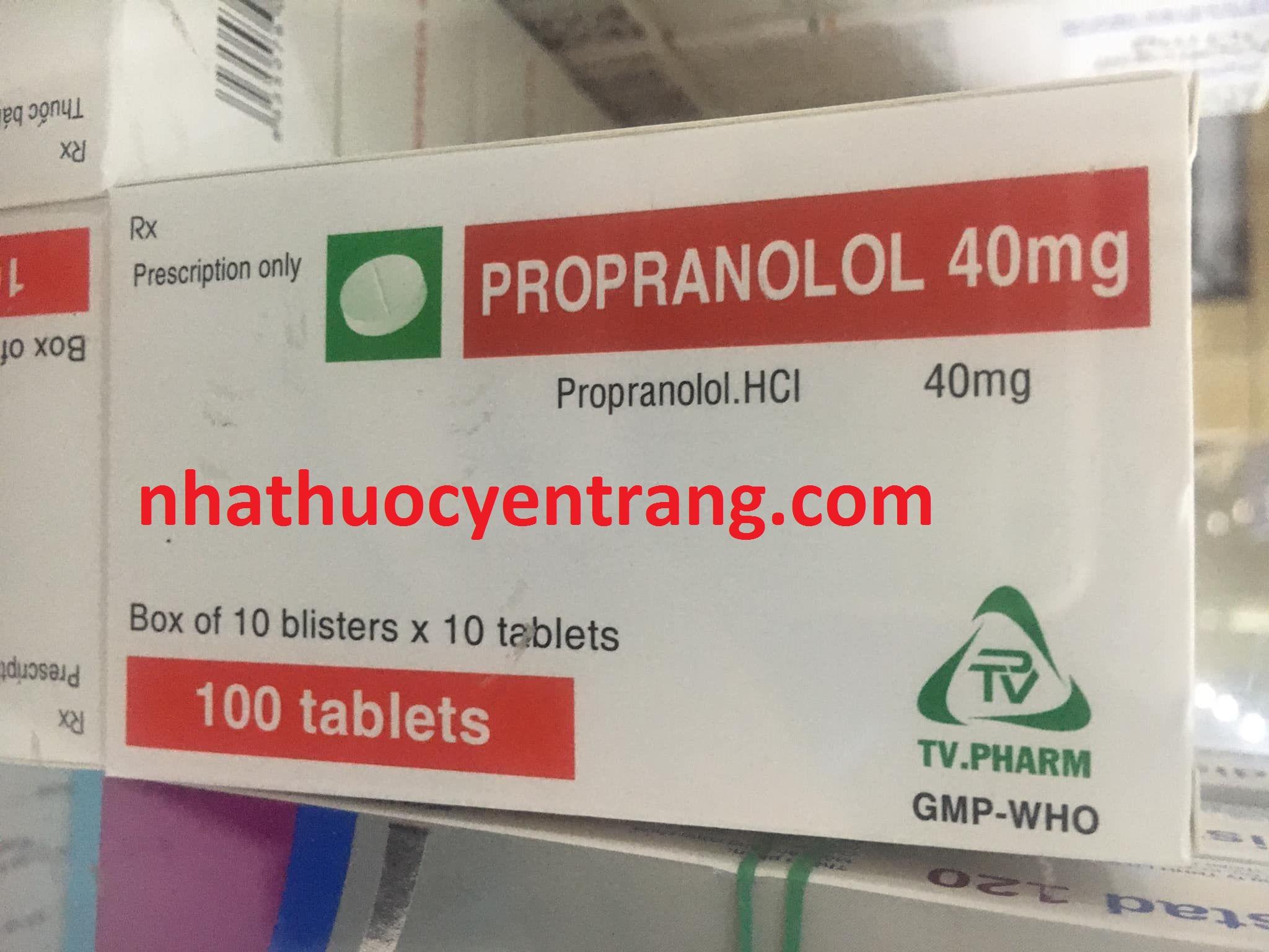 Propranolol 40mg