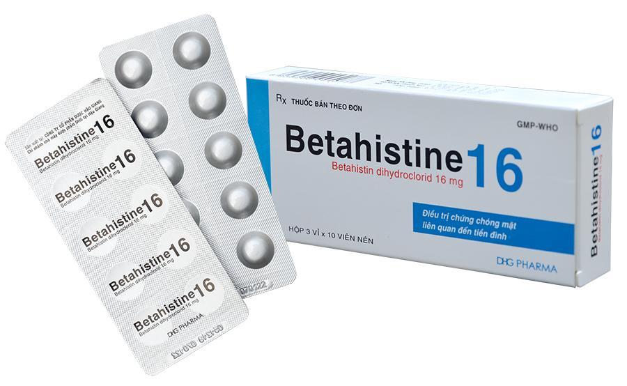 Betahistine 16mg Hậu Giang