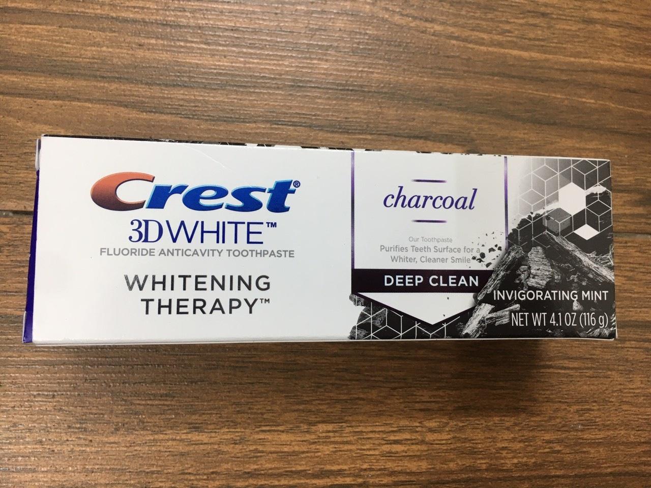 Kem Đánh Răng Crest 3D Whitening Charcoal