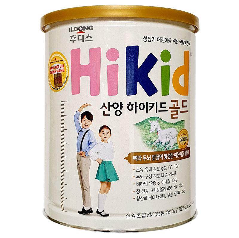 Sữa Dê Hikid Hàn Quốc 700g (trẻ từ 1-9 tuổi)