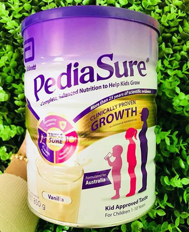 Sữa PediaSure nắp tím Úc 850g