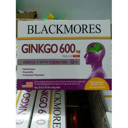 Ginkgo Biloba 600mg with coenzyme Q10 BLACKMORES
