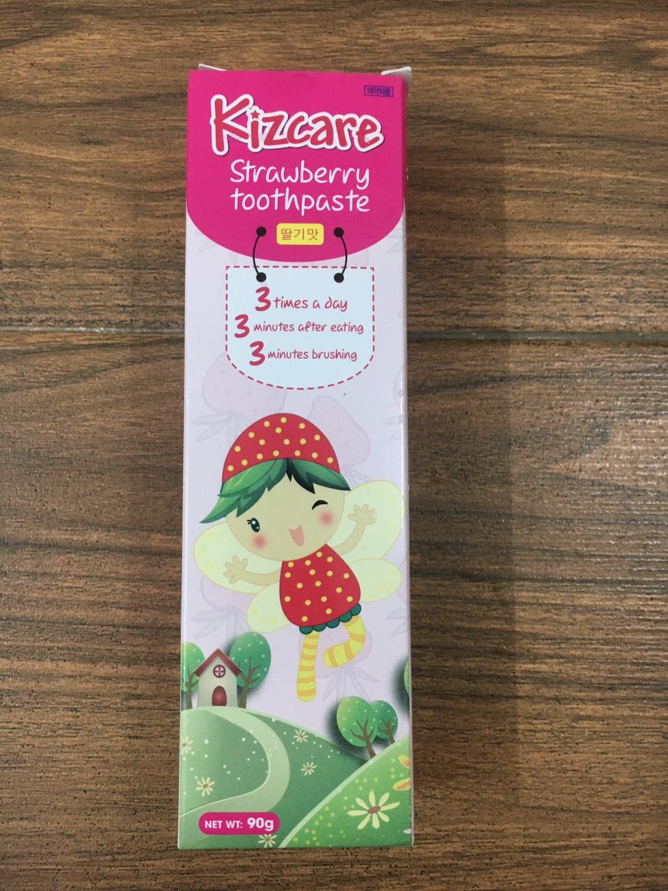 Kem đánh răng trẻ em Kizcare Fruits 90g (hương trái cây)