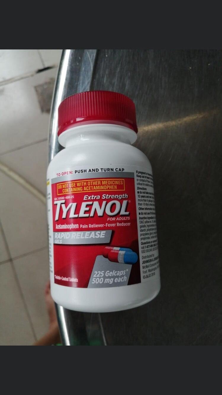 Tylenol 500 mg 225 viên