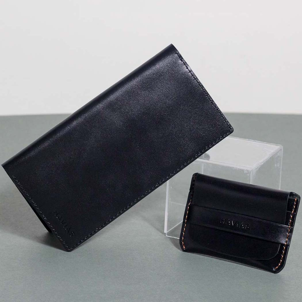 Couple Ví Venuta & Smile Handcrafted Wallet Black