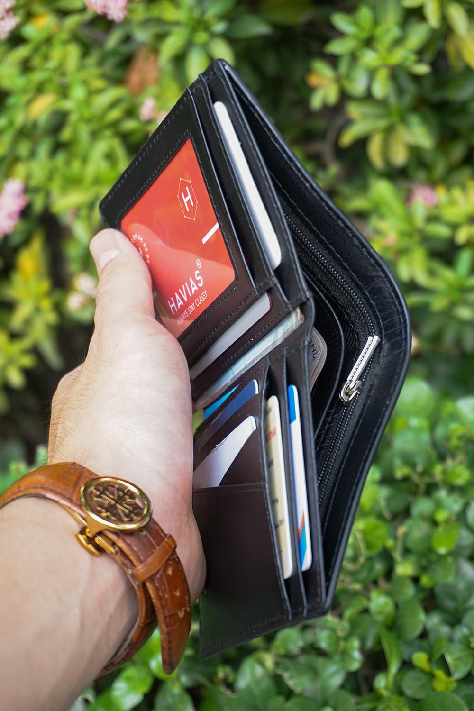Couple Ví Heyday2 & Verzip2 Handcrafted Wallet Black ví cặp da thật may thủ công nam nữ màu đen