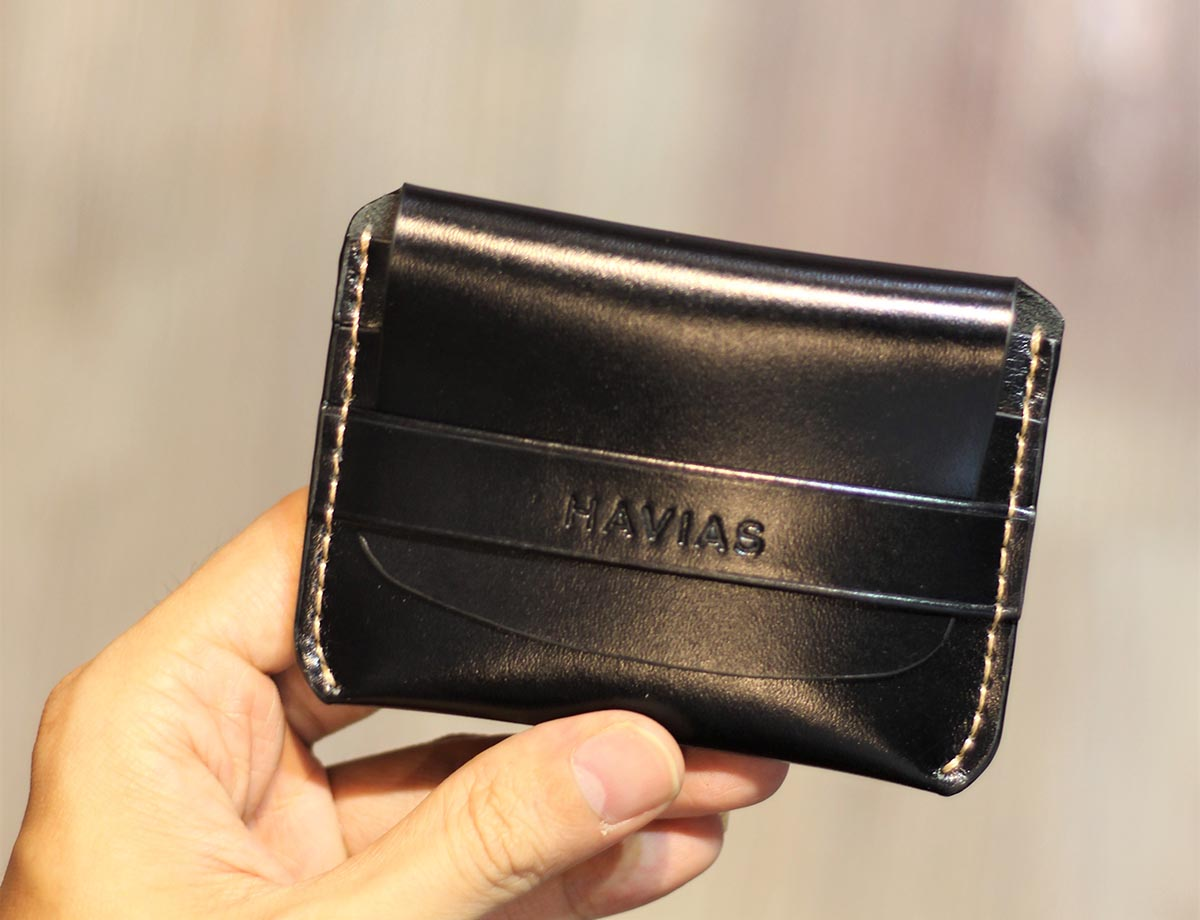 Couple Ví Venuta & Smile Handcrafted Wallet Black